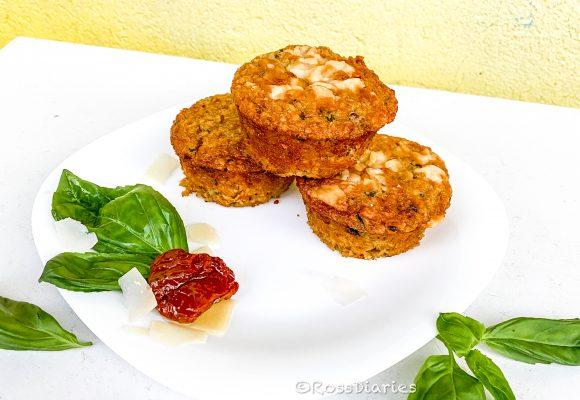 Здравословни мъфини с босилек и сушени домати