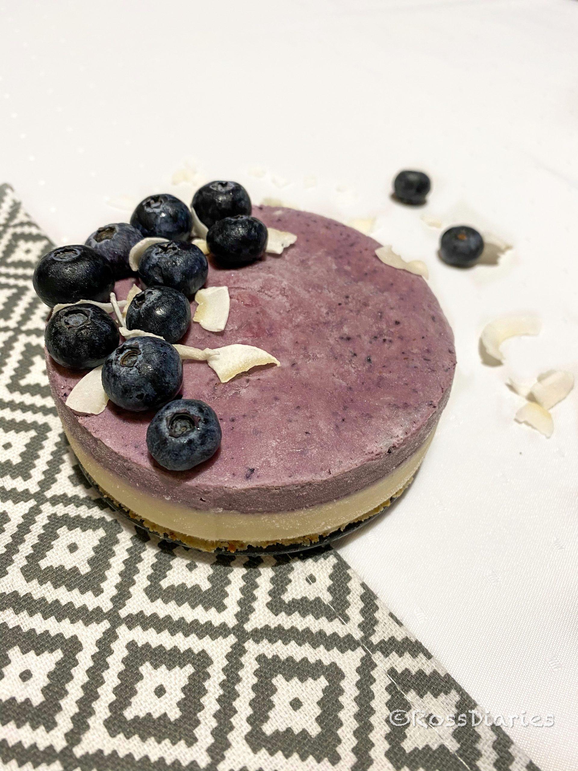 Сурова торта с боровинки и ванилия (мини вариант)