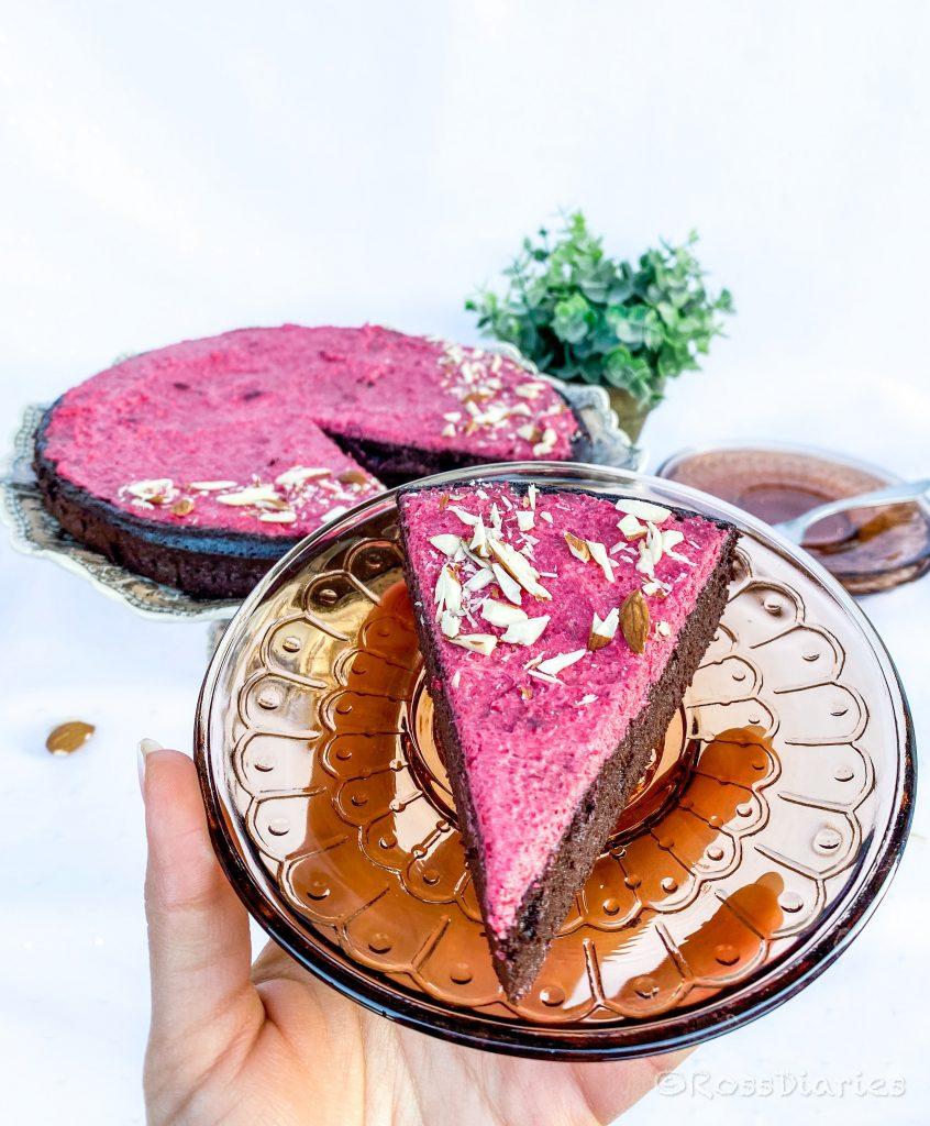 шоколадова торта от червено цвекло