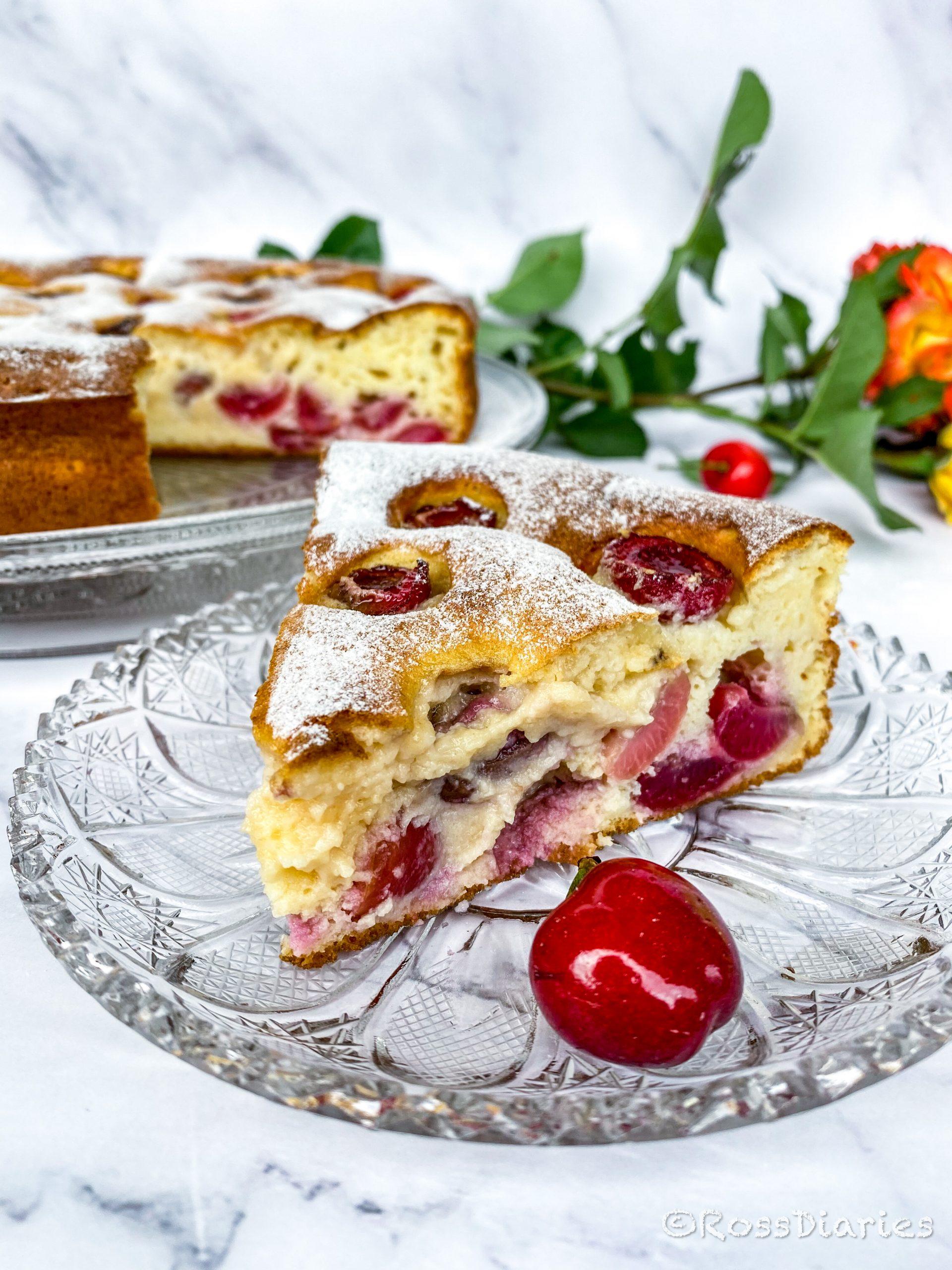 Италианска торта с рикота  и череши